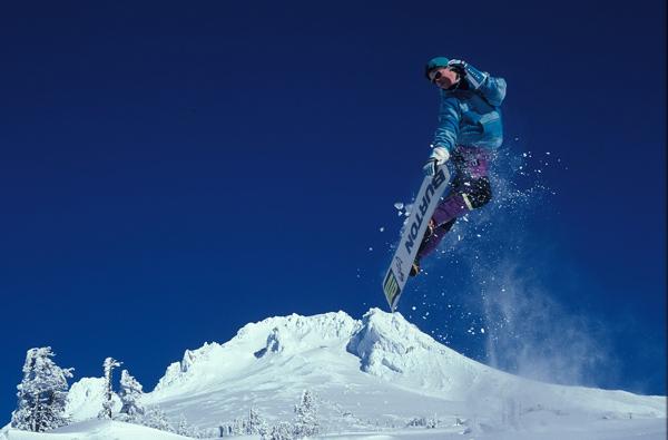 Snowboarder in den Zillertaler Alpen