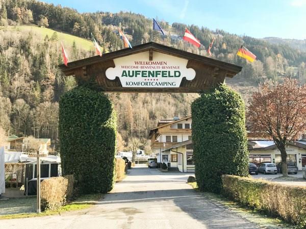 Tor zum Camping Aufenfeld