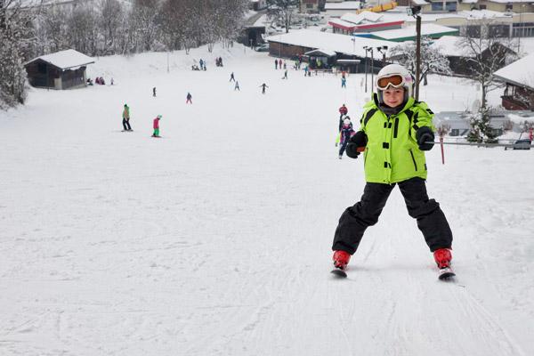Skihang unweit von der Hütte Zillertal
