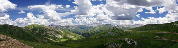 tibetisches Hochland Panorama