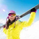 Skifahrerin in Tirol