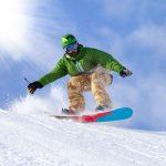 Snowboarding Berge Tirol
