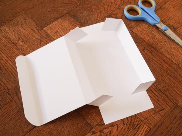 Box für die Aufbewahrung entsteht mit Hilfe der Druckvorlage