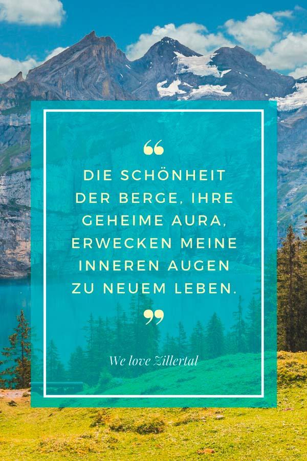 Visual Statement zum Thema Bergzitate von We love Zillertal