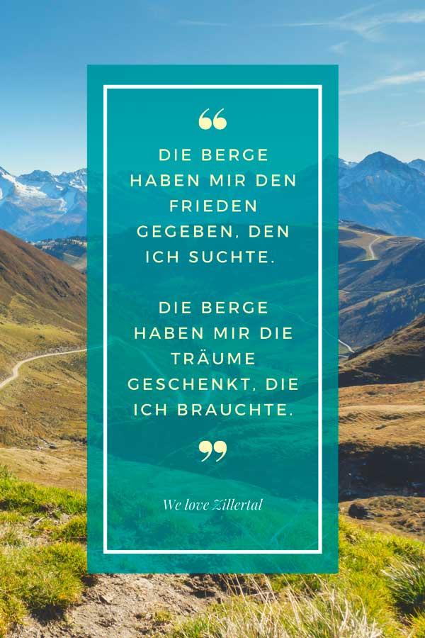 Zitat zum Thema Berge von We love Zillertal