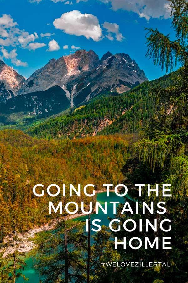 Bergzitat zum Beitrag die schönsten Sprüche, Zitate und Visual Statements zum Thema Berge