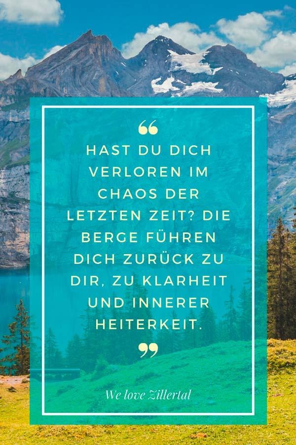 Bergzitat Klarheit von We love Zillertal