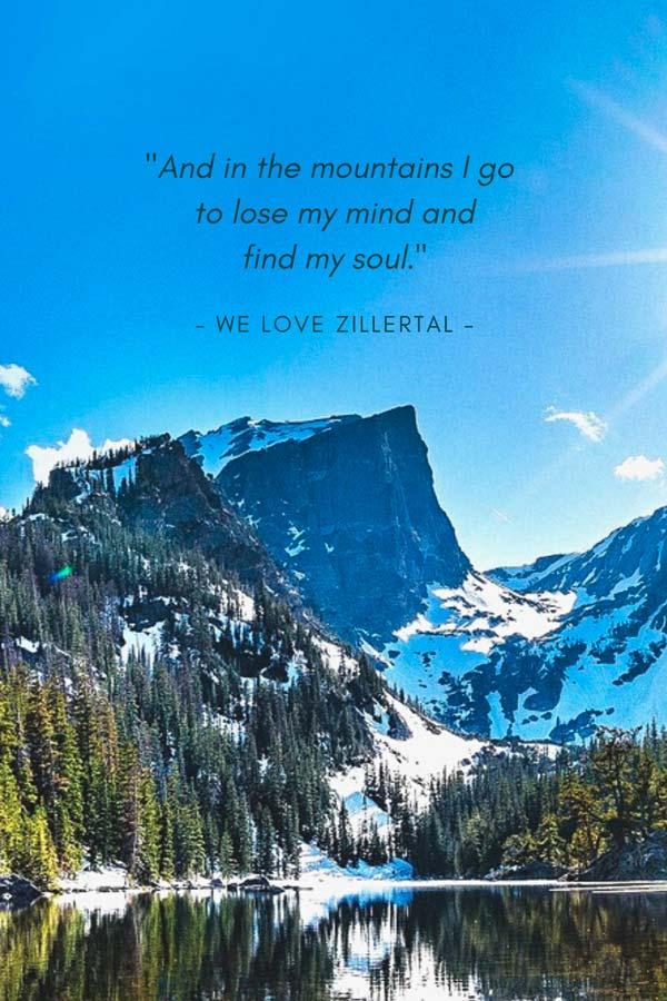 Die schönsten Zitate, Sprüche und Visual Statements von We love Zillertal: englisches Zitat