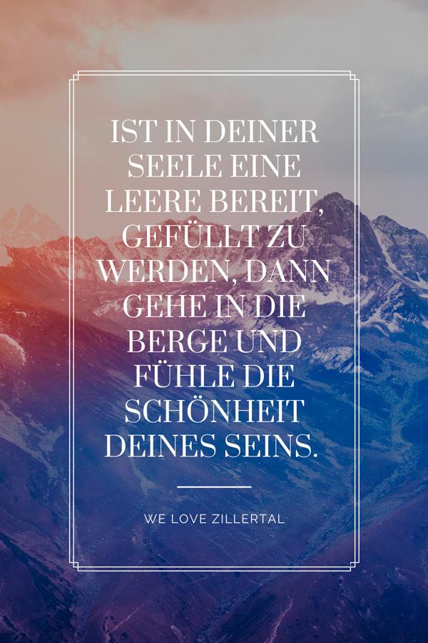Visual Statement  die Schönheit des Seins von We love Zillertal