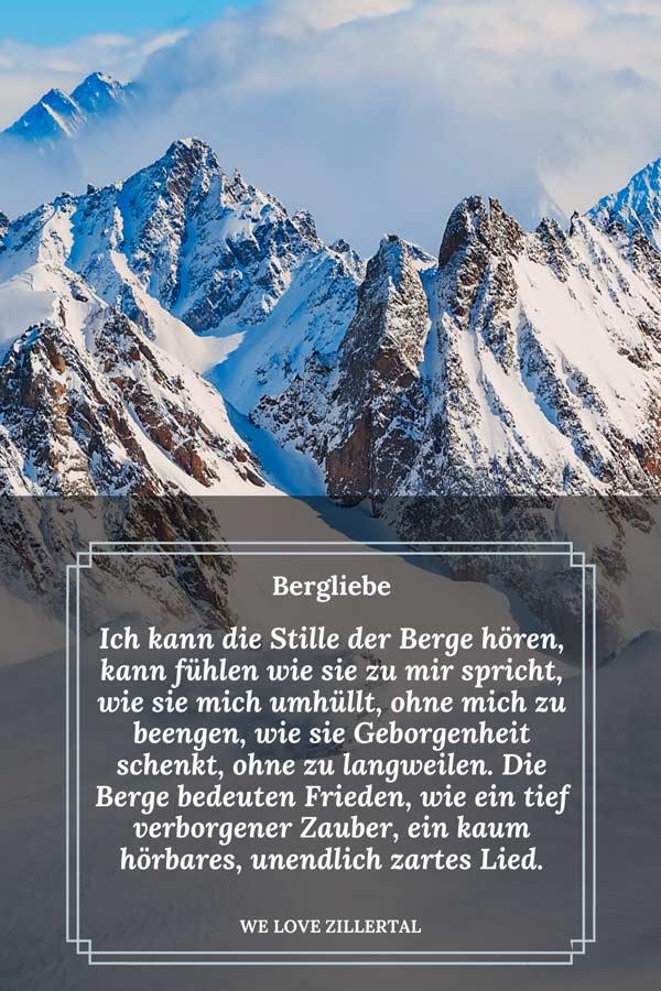 Visual Statement zum Thema Berge von We love Zillertal